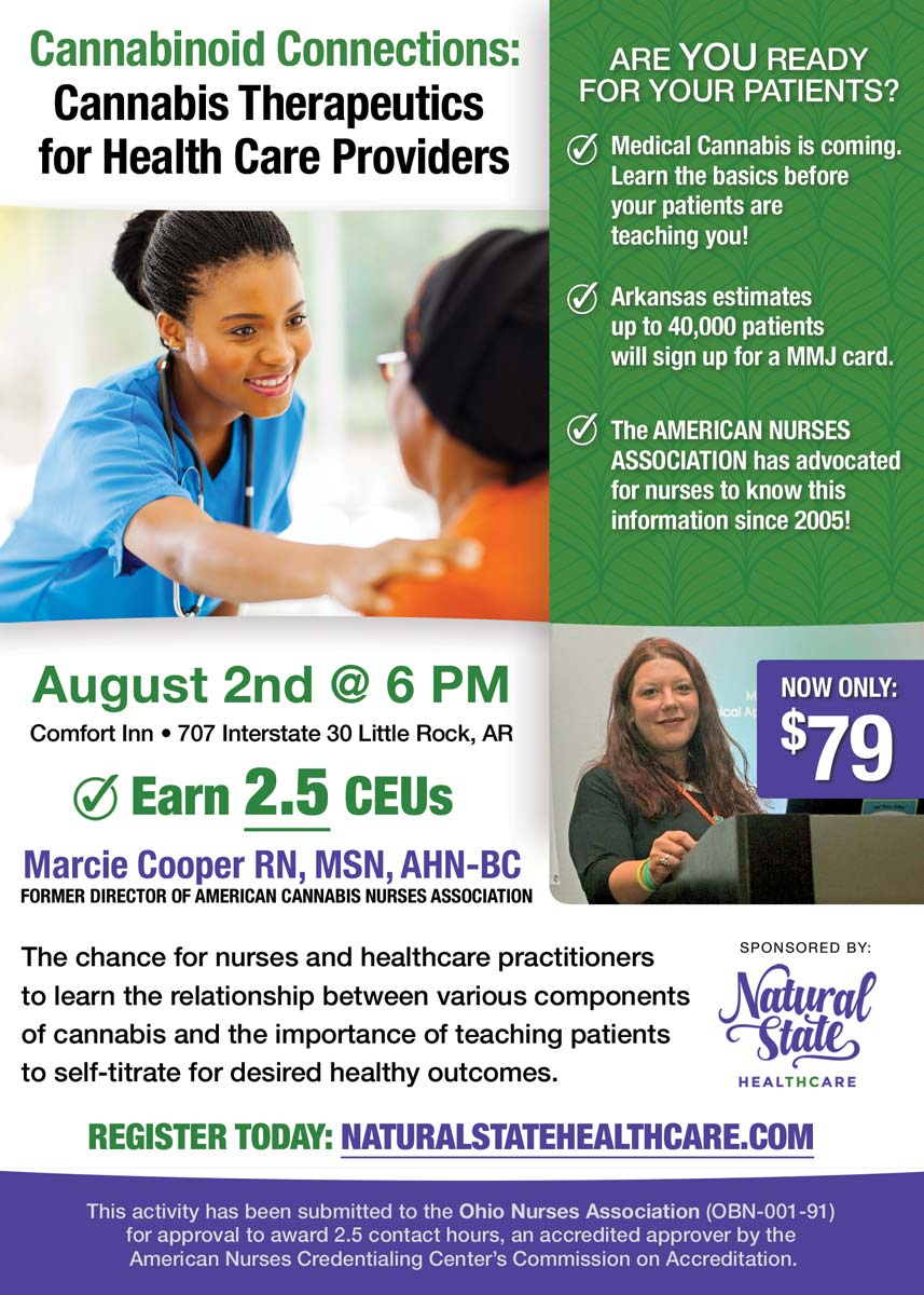August 2nd: Cannabinoid Connections: Cannabis Therapeutics for Health Care Providers