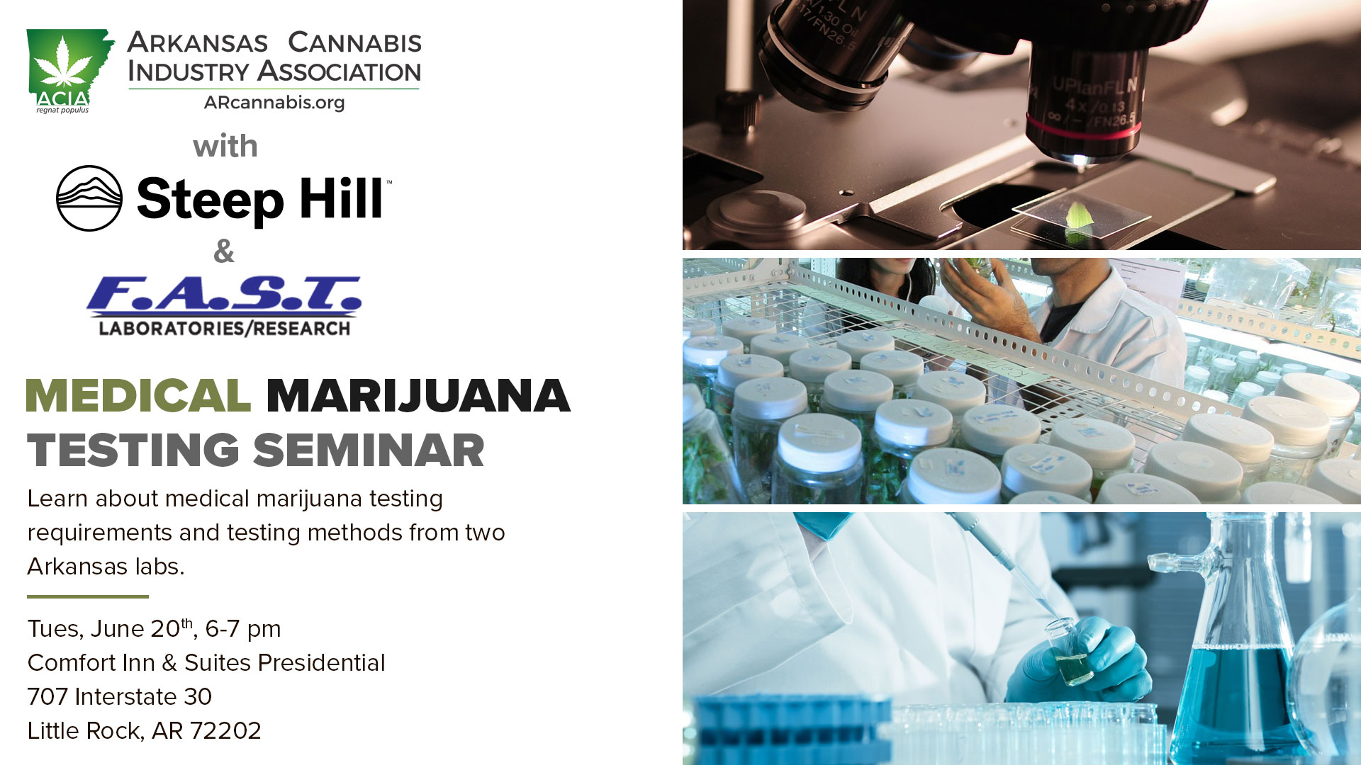 Medical Marijuana Testing Seminar – featuring Steep Hill & FAST Labs