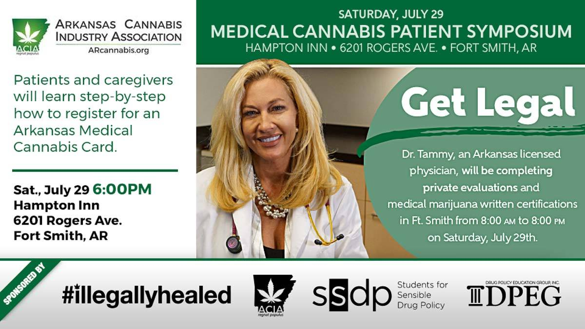 Medical Cannabis Patient Symposium – Fort Smith – July 29th