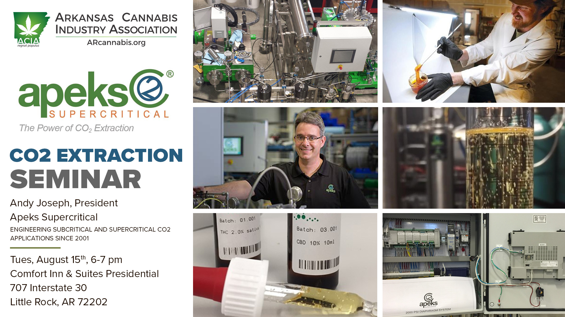 CO2 Extraction Seminar – with Apeks Supercritical | Arkansas