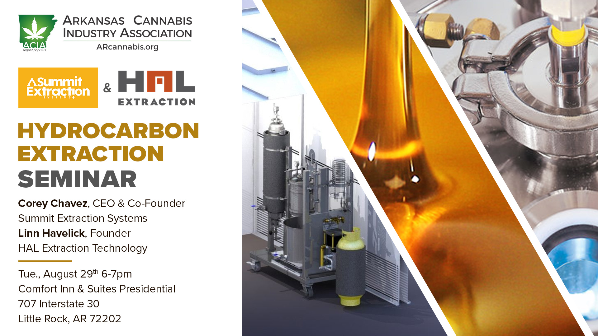 Hydrocarbon Extraction Seminar – with Summit Extraction Systems and HAL Extraction Technology